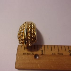 Paolo Jewelry - Paolo Gold Tone Textured Crescent Clip Earrings